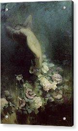 Les Fleurs Du Sommeil Acrylic Print by Achille Theodore Cesbron