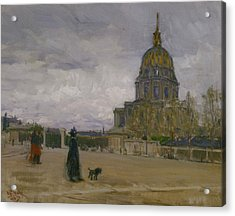 Les Invalides, Paris Acrylic Print by Henry Ossawa Tanner