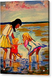 Les Mares Acrylic Print by Rusty Woodward Gladdish