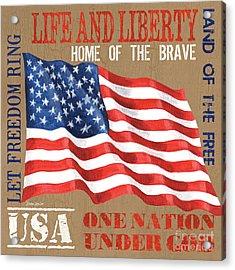 Let Freedom Ring Acrylic Print by Debbie DeWitt