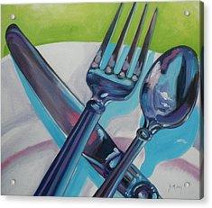 Let's Eat Acrylic Print by Donna Tuten