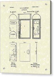 Letter Box 1887 Patent Art Acrylic Print by Prior Art Design