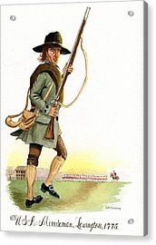 Lexington Massachusetts  Minuteman 1775 Acrylic Print by Jeff Blazejovsky