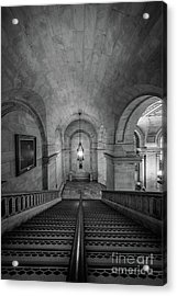 Library Staircase Acrylic Print by Inge Johnsson