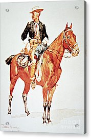 Lieutenant S C Robertson, Chief Of The Crow Scouts Acrylic Print by Frederic Remington