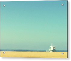 Life Guard Tower Acrylic Print by Denise Taylor