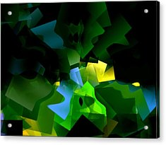 Life In Abstract - 001 Acrylic Print by Dave Stubblefield