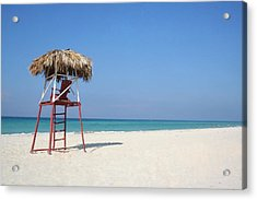 Lifeguard Acrylic Print by Joe Burns