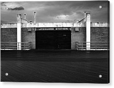 Lifeguard Station, Coney Island Acrylic Print by Catherine Jones