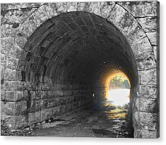Light At The End Acrylic Print by Kathy Jennings