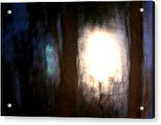 Light Breaking Through The Dark Forest Acrylic Print by Johann Todesengel