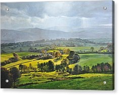 Light In The Valley At Rhug. Acrylic Print by Harry Robertson