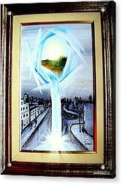 Light Portal Acrylic Print by Paulo Zerbato