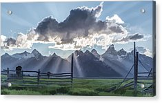 Light Rays In The Tetons II Acrylic Print by Jon Glaser