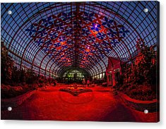 Light Show At The Conservatory Acrylic Print by Sven Brogren