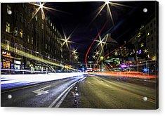 Light Trails 2 Acrylic Print by Nicklas Gustafsson