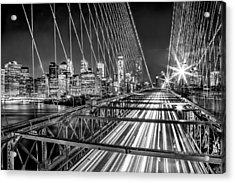 Light Trails Of Manhattan Acrylic Print by Az Jackson