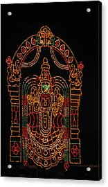 Lighted Durga Acrylic Print by Umesh U V