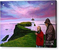 Lighthouse At Mykines Faroe Islands Acrylic Print by Paul Meijering