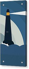 Lighthouse At Night Acrylic Print by Frank Tschakert