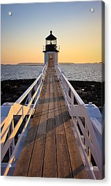Lighthouse Boardwalk Acrylic Print by Benjamin Williamson