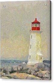 Lighthouse Acrylic Print by Jeff Kolker