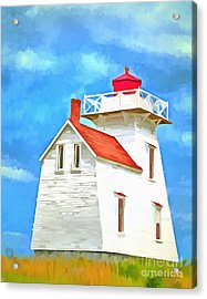 Lighthouse Painting Acrylic Print by Edward Fielding