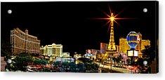 Lighting Up Vegas Acrylic Print by Az Jackson