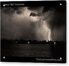 Lightning Energy Poster Print Acrylic Print by James BO  Insogna