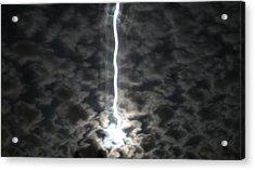 Lightning Moon Acrylic Print by Joshua Sunday