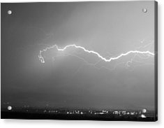 Lightning Over North Boulder Colorado  Ibm Bw Acrylic Print by James BO  Insogna