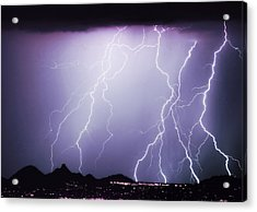 Lightning Storm North Scottsdale Az 85255 Acrylic Print by James BO  Insogna
