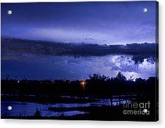 Lightning Thunderstorm July 12 2011 St Vrain Acrylic Print by James BO  Insogna