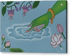 Like Writing On Water 3 Acrylic Print by Andrea Nerozzi