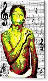 Lil Wayne Acrylic Print by Brad Scott