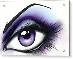 Lilac Acrylic Print by Elaina  Wagner