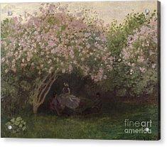 Lilacs Acrylic Print by Claude Monet