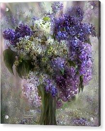 Lilacs Of Love Acrylic Print by Carol Cavalaris