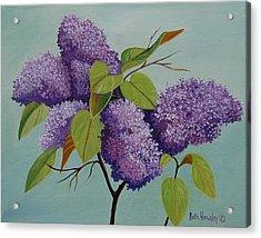 Lilacs Acrylic Print by Ruth  Housley