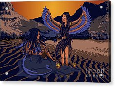 Lilith And Musical Medusa Acrylic Print by Laura Brightwood
