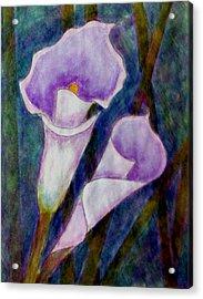Lilium Calas Acrylic Print by Madalena Lobao-Tello