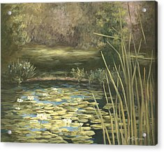 Lilly Pond Acrylic Print by Jose Rodriguez