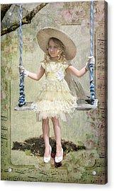 Lily In The Garden Acrylic Print by Fran J Scott