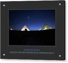 Limitations Create Opportunities For Improvement Acrylic Print by Donna Corless