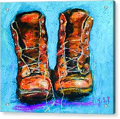 Limited Edition Wayward Shoe Laces Acrylic Print by Julia S Powell