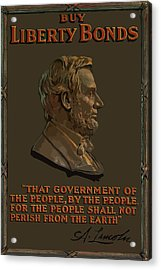 Lincoln Gettysburg Address Quote Acrylic Print by War Is Hell Store