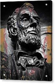 Lincoln Stoic Acrylic Print by Daniel Hagerman