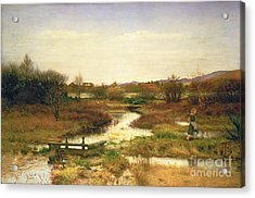 Lingering Autumn Acrylic Print by Sir John Everett Millais