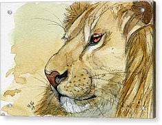 Lion Inspiration  Acrylic Print by Svetlana Ledneva-Schukina