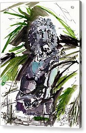 Lions Staue Of Jekyll Island Georgia Acrylic Print by Ginette Callaway